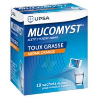 MUCOMYST 200 mg Poudre pour solution buvable en sachet B/18 à AUDENGE