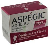 ASPEGIC ADULTES 1000 mg, poudre pour solution buvable en sachet-dose 15 à AUDENGE