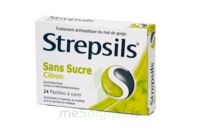 STREPSILS CITRON SANS SUCRE, pastille édulcorée à l'isomalt, au maltitol et à la saccharine sodique à AUDENGE