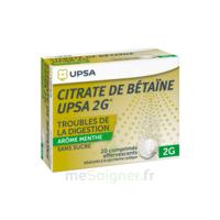 Citrate de Bétaïne UPSA 2 g Comprimés effervescents sans sucre menthe édulcoré à la saccharine sodique T/20 à AUDENGE