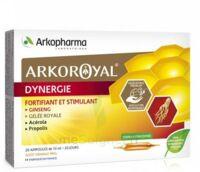 Arkoroyal Dynergie Ginseng Gelée Royale Propolis Solution Buvable 20 Ampoules/10ml à AUDENGE