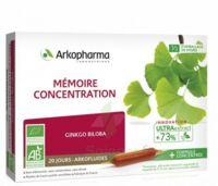 Arkofluide Bio Ultraextract Solution buvable mémoire concentration 20 Ampoules/10ml à AUDENGE