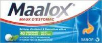 MAALOX HYDROXYDE D'ALUMINIUM/HYDROXYDE DE MAGNESIUM 400 mg/400 mg Cpr à croquer maux d'estomac Plq/40 à AUDENGE