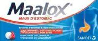 MAALOX MAUX D'ESTOMAC HYDROXYDE D'ALUMINIUM/HYDROXYDE DE MAGNESIUM 400 mg/400 mg SANS SUCRE FRUITS ROUGES, comprimé à croquer édulcoré à la saccharine sodique, au sorbitol et au maltitol à AUDENGE