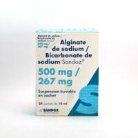 ALGINATE DE SODIUM/BICARBONATE DE SODIUM SANDOZ 500 mg/267 mg, suspension buvable en sachet à AUDENGE