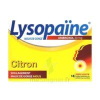 LYSOPAÏNE MAUX DE GORGE AMBROXOL CITRON 20 mg SANS SUCRE, pastille édulcorée au sorbitol et au sucralose à AUDENGE