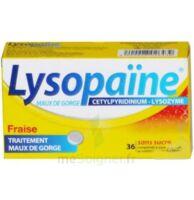 LYSOPAÏNE MAUX DE GORGE CETYLPYRIDINIUM LYSOZYME FRAISE SANS SUCRE, comprimé à sucer édulcoré au sorbitol et à la saccharine à AUDENGE