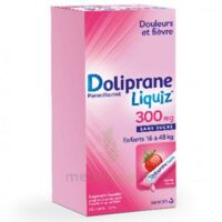 Dolipraneliquiz 300 mg Suspension buvable en sachet sans sucre édulcorée au maltitol liquide et au sorbitol B/12 à AUDENGE