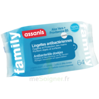 Assanis Family Lingette antibactérien mains Pochette/64 à AUDENGE