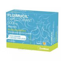 FLUIMUCIL EXPECTORANT ACETYLCYSTEINE 600 mg Glé s buv adultes 10Sach à AUDENGE