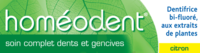 Boiron Homéodent Soin Complet Dents et Gencives Pâte Dentifrice Citron 2T/75ml à AUDENGE